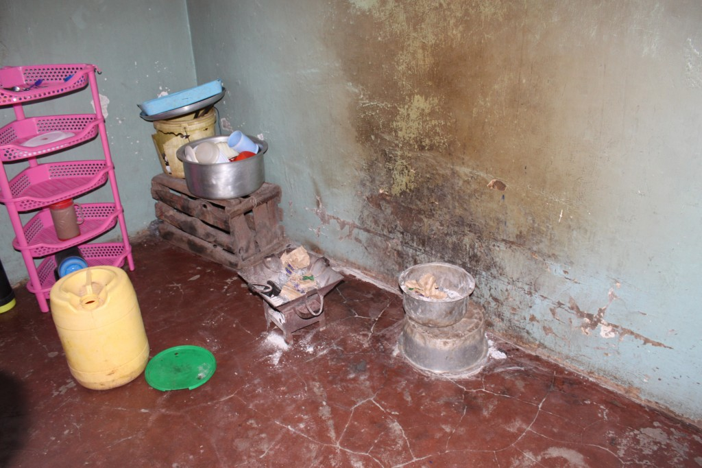The room used as a kitchen in the orphanage